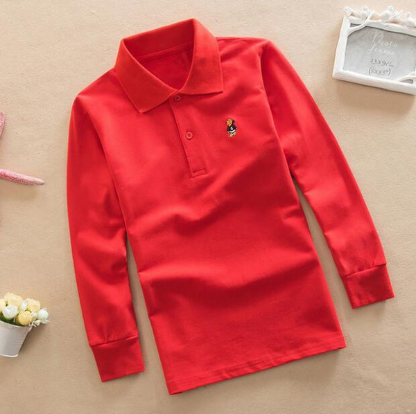 top popular Kids Clothing Tops Polos Designer Boy Clothes Spring And Autumn Pullover Tees Casual Long Sleeve Cartoon Icon 2021