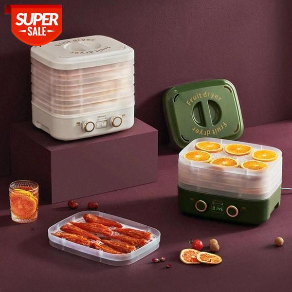 top popular Food Dehydrator Fruit Dryer Household baby Pet Snack Fruit and Vegetable 5 trays Snacks Air Dryer EU Mini #7b2H 2021
