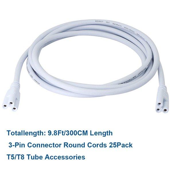 300cm cordões de extensão redonda