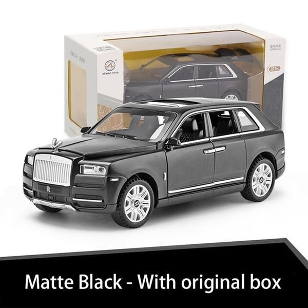Noir mat avec la boîte