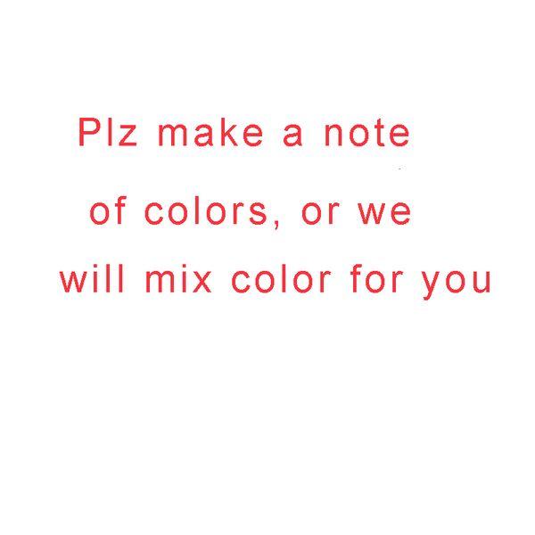 Tenga en cuenta el color