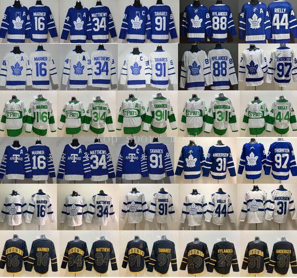 top popular Toronto Maple Leafs Auston Matthews Jersey John Tavares Hockey Mitchell Marner William Nylander Frederik Andersen Morgan Rielly Joe Thornton 2020