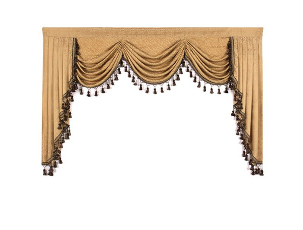 top popular 1 Piece European Valances for Living Room Waterfall Valances for Kitchen Modern Curtains Living Room Swag 2021