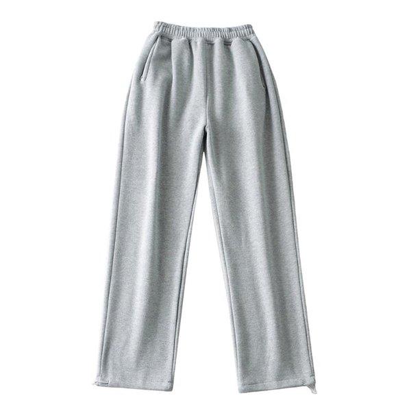 Pantalones de vellón gris