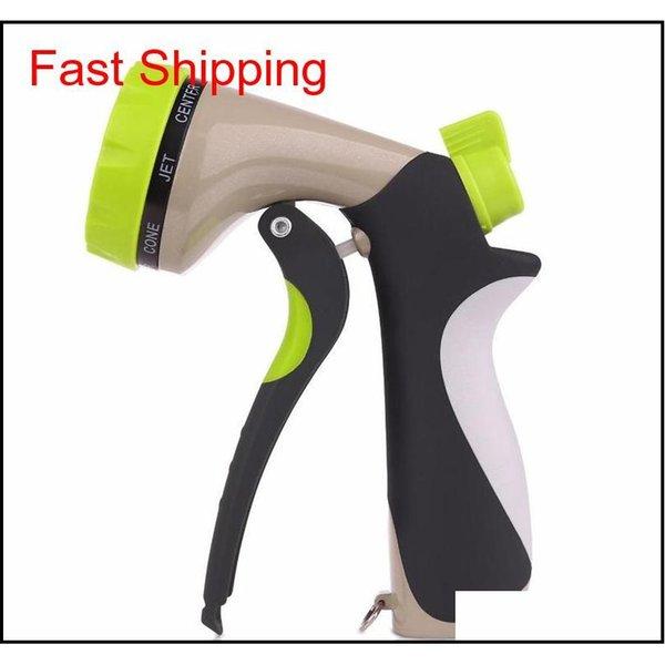 top popular Garden Hose Nozzle Hand Sprayer 8 Pattern Adjustable Heavy Duty Metal Slip Resistan qyljFE bde_luck 2021