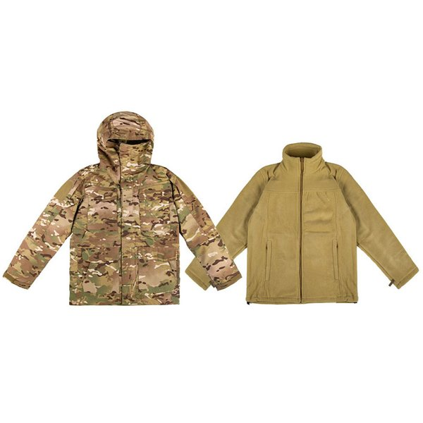 top popular Shooting Coat Tactical Combat Winter Clothing Camouflage Windbreaker Tactical Outdoor M65 Jacket with Warm Clothing P05-223 2021