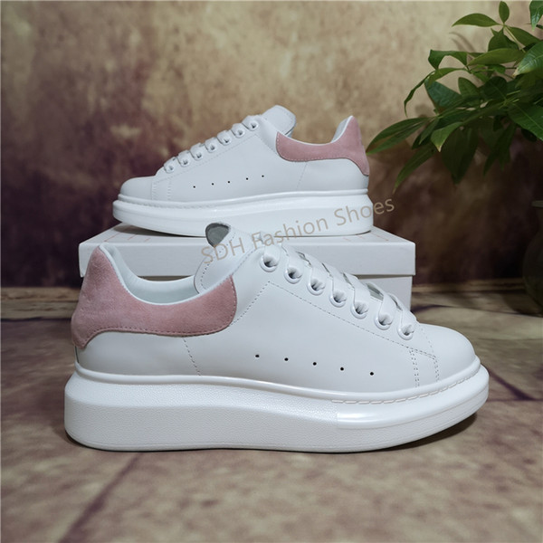 best selling 2021 Top Casual Shoes Womens Mens Trainers White Leather Platform Shoes Flat Chaussures De Sport Zapatillas Suede Shoes