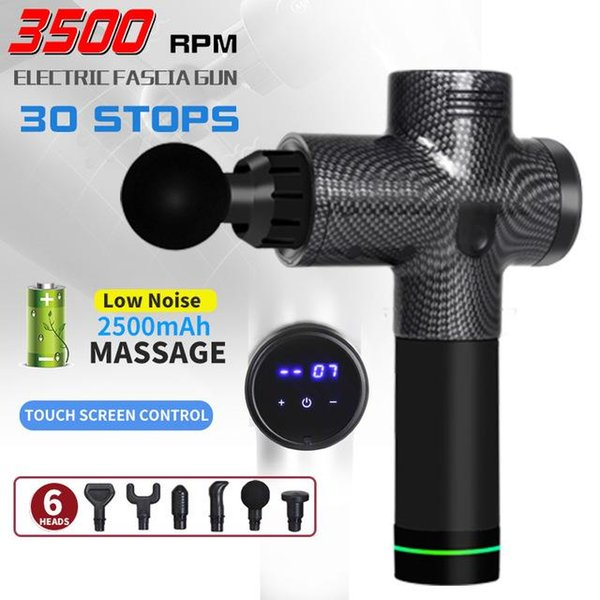 best selling LCD Display Body Massage Gun Exercising Muscle Electric Massager Gun head Massager for Foot Neck and Back Vibrator Slimming Shaping