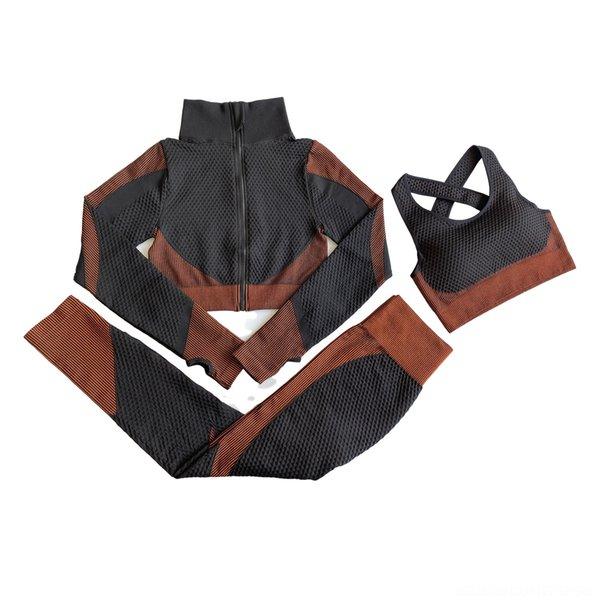 Three Piece Black Orange Suit