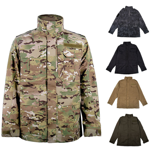 best selling Outdoor Clothing Woodland Hunting Shooting Coat Tactical Combat Winter Clothing Camouflage Windbreaker Tactical Outdoor M65 Jacket NO05-222