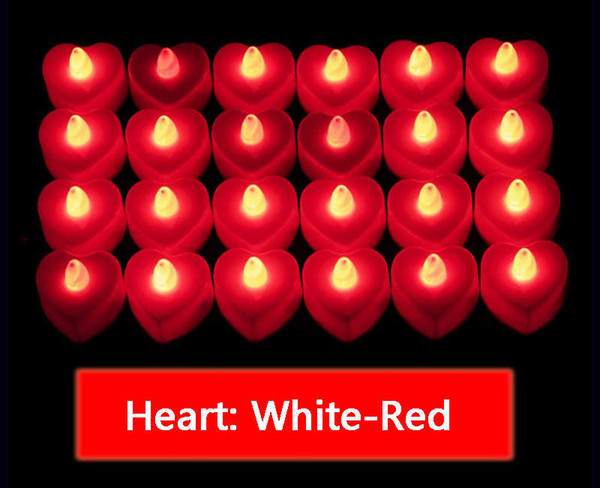 Heart White-Red