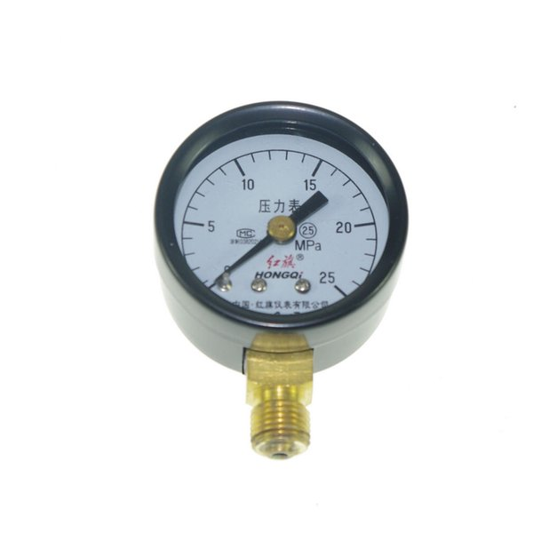 top popular Water Oil Hydraulic Air Pressure Gauge Universal Gauge M10*1 40mm Dia 0-25Mpa order<$18no track 2020