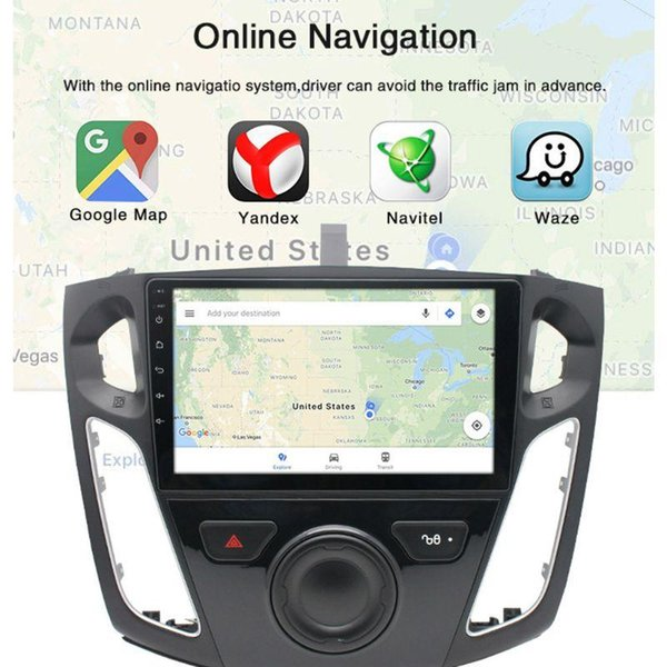 best selling 9 Inch Quad Core 1G Running 16G Memory Car Radio GPS Touch Navigator for Focus Q39F