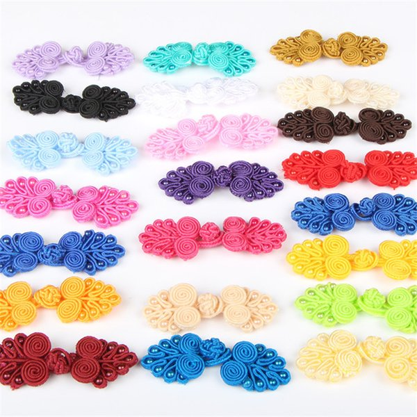 best selling 20pairs Chinese Handmade Cheongsam Buttons Knot Fastener Chinese Knot Buttons DIY Handcraft clothing decorative accessories