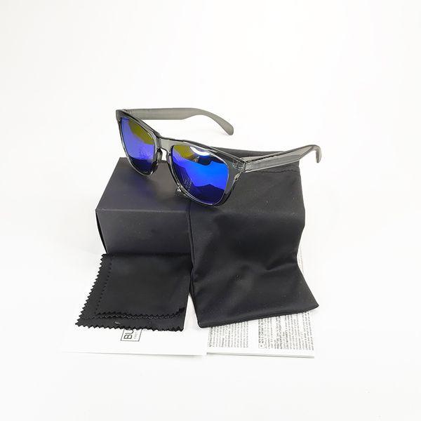 crystal grey frame and blue