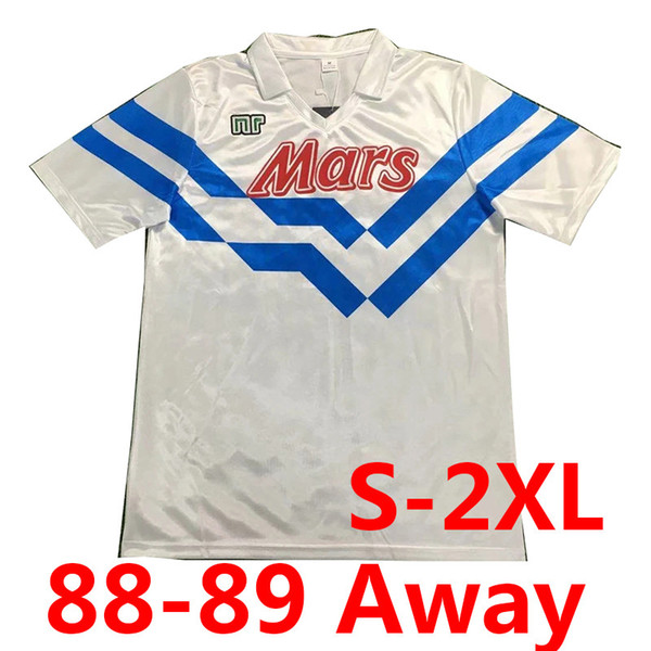 Retro 88-89 Napoli weg weiß