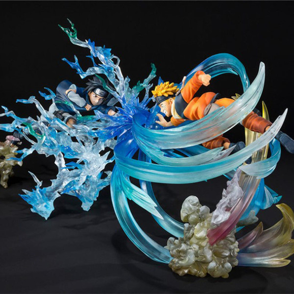top popular G.E.M. NARUTO Uzumaki Naruto VS sasuke Garage Kits rasengan Fight scenes model toys X0121 2021