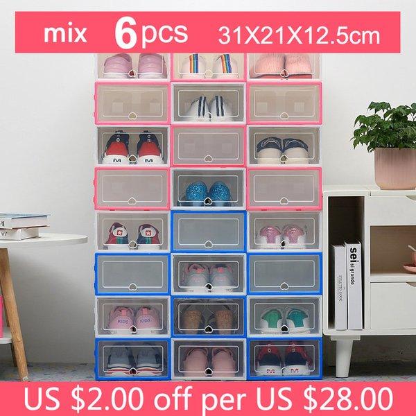 6pc 31x21x12.5cm Mix