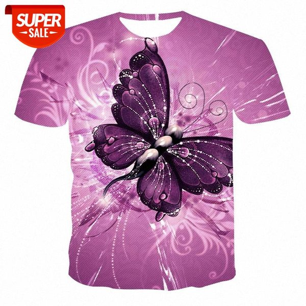best selling New Animal Round Neck T-shirt Men's High Quality Men's T-shirt Short Sleeve Butterfly Pattern 3D Printing Fashion Handsome #jq6O