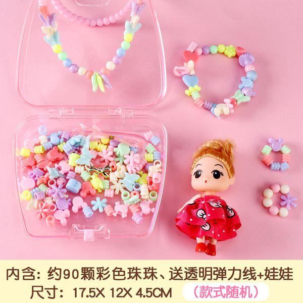 Bolsa diy beads colar colar cor ra