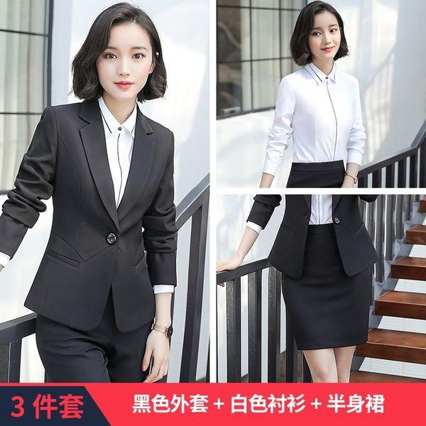 Camicia bianca in cappotto nero B179 Gonna