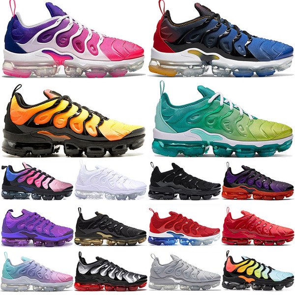 new tn plus shoes tns triple white black zebra pastel hyper blue voltage purple mens womens trianers chaussures off outdoor sports sneakers