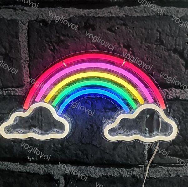 Gökkuşağı çift bulut
