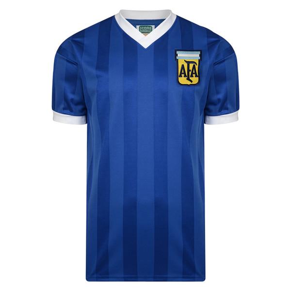 Retro 1986 Arjantin Away 10 # Maradona