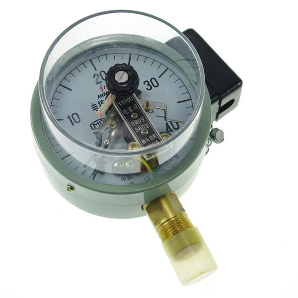 top popular Electric Contact Pressure Gauge Universal Gauge M20*1.5 100mm Dia 0-40Mpa order<$18no track 2020