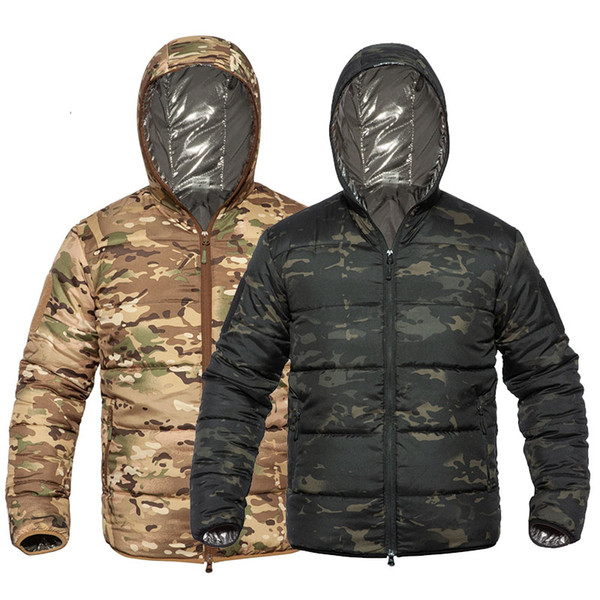 top popular Outdoor Sports Gear Jungle Hunting Woodland Shooting Coat Tactical Combat Clothing Cotton-padded Jacket Warm Wadded Jacket NO05-221 2021