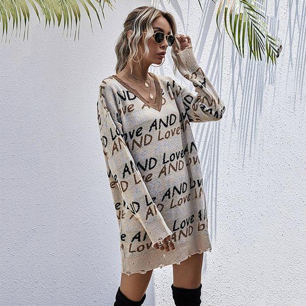 Vestido de suéter