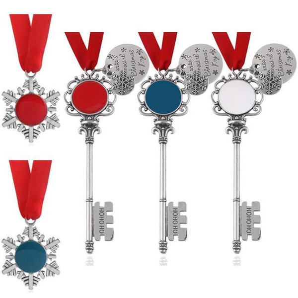 top popular DHL Hot Sale New Christmas Magic Santa Claus Key Pendant Ornaments Decorations Xmas Halloween Gifts Xmas 5 styles 2021