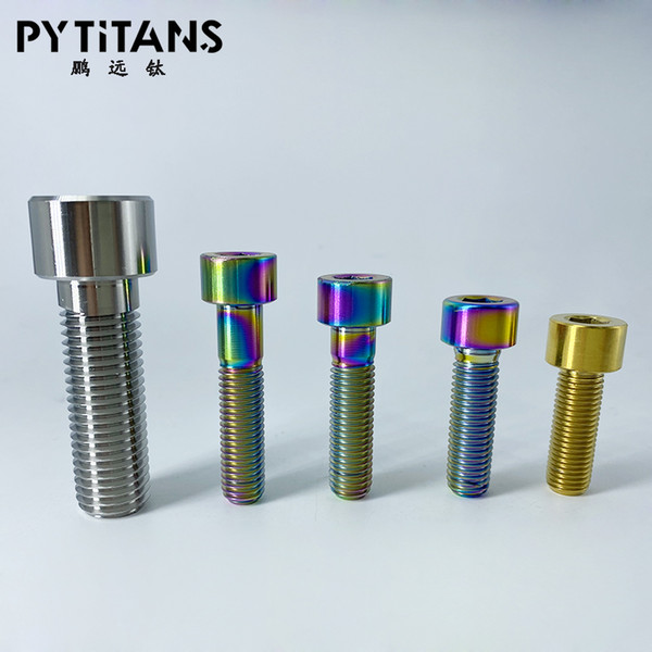 top popular Hot Sale titanium Screw DIN912 Titanium Hexagon Socket Head Cap Screw Hexagon Socket Head Screw from Baoji City best price 2021