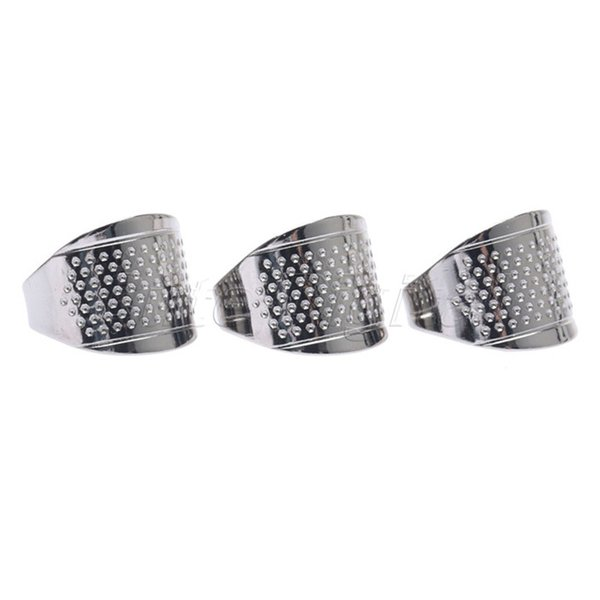 best selling costura Finger Protector Sewing Thimbles Adjustable Ring Thimble Quilting Tools Sewing Handsewing DIY Tools