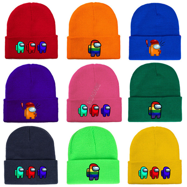 best selling Among Us Game Beanie winter warm Cap Designer knitted hat Outdoor Riding Cycling Skiing Men Women Cosplay hats Christmas gift 2021 D120301