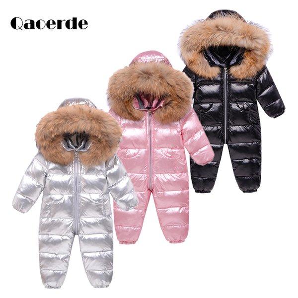 top popular 2020 Newborn Baby Winter Clothes Girls Down coat Boys Rompers Infant Jumpsuit Snowsuit for Newborn Children's Climbing Suit 0-3Y Q1123 2020
