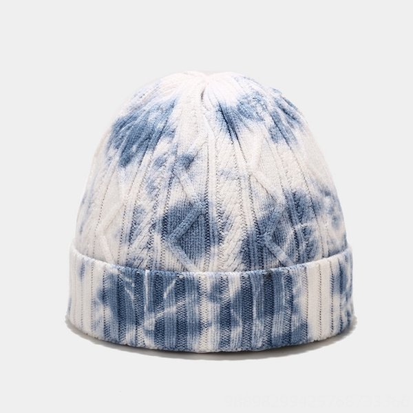 Wave Blue And White Tie Dye-M(56-58cm)