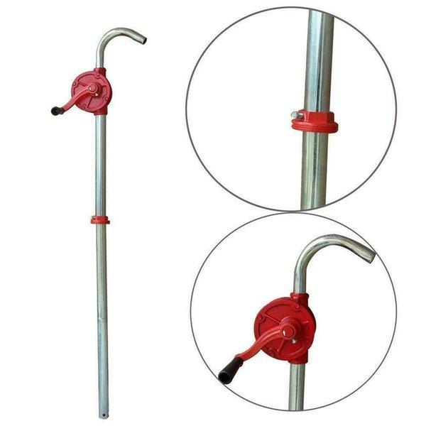 "top popular 55 Gallon Manual Hand Crank Rotary Pump Oil Fuel Transfer Suctin Drum 50"" Height 2021"
