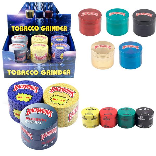 top popular Cookies Backwoods Grinder SF California Metal Zinc Alloy Smoking 4 Layers 40MM 50MM 55MM 63MM Herb Grinder Tobacco Vape I'm Grinders 2021