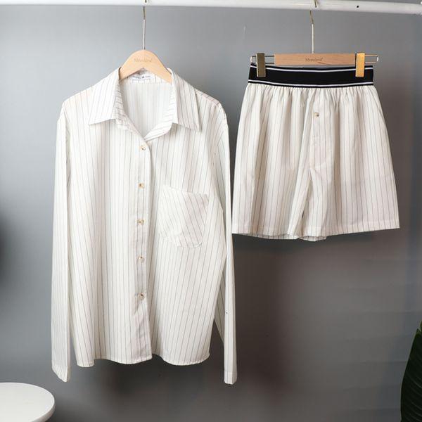 Stripe Short Set