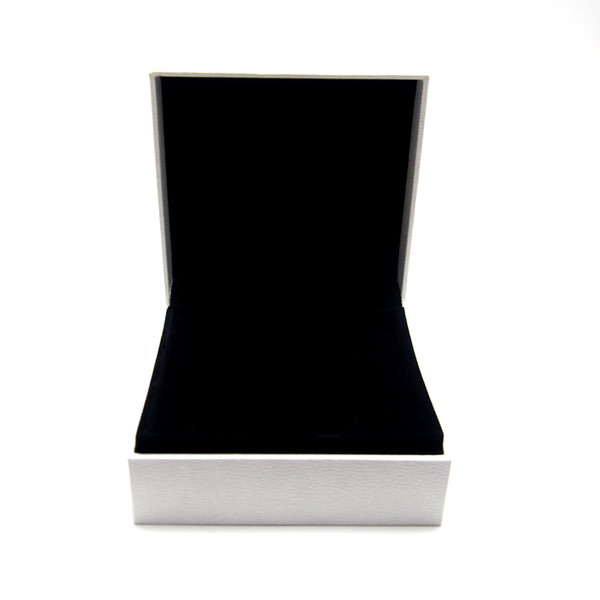 best selling White Paper Wrapping Box Fit For Pan Charm Bead Necklace Earrings Ring Bracelet Bangle Pendant Jewelry Packaging Display