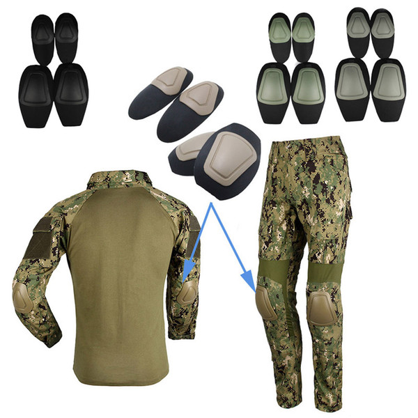 best selling Outdoor Sports Army Hunting Paintball Shooting Camo Gear Protective Airsoft Kneepads Tactical Elbow & Knee Pads for BDU NO05-009