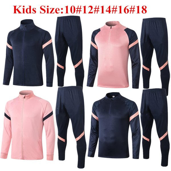 top popular Thai quality 2020 KANE Child Jacket Survetement LO CELSO 20 21 BERGWIJN SON kids Tracksuit soccer jerseys LAMELA BALE Youth training suit 2021