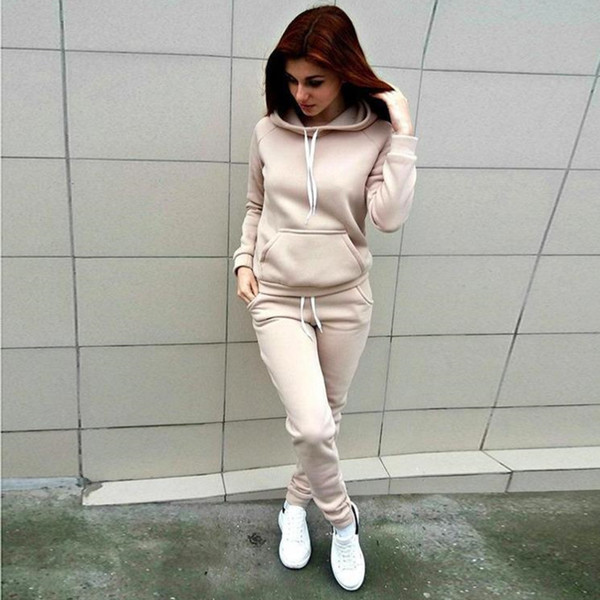 best selling Womens tracksuit Patchwork Hoodies and Pants Autumn Winter Sweatshirt Hooded Long Sleeve Striped Pullovers Tops new bestOX42A