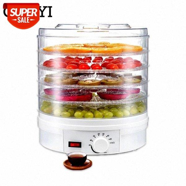 top popular CUKYI Food Dehydrator Fruit Vegetable Herb Meat Drying Machine Snacks food Dryer with 5 trays EU UK US Plug 110V 220V #361D 2021