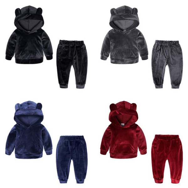 Children Clothing 2020 Autumn Winter Toddler Girls Clothes Hooded 2Pcs Outfit Suit Kids Clothes Tracksuit For Girls Costume Sets Q1215 Children Clothing 2020 Autumn Winter Toddler Girls Clothes Hooded 2Pcs Outfit Suit Kids Clothes Tracksuit For Girls Costume Sets