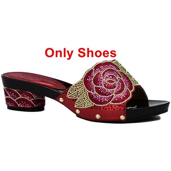 Zapatos rojos solo