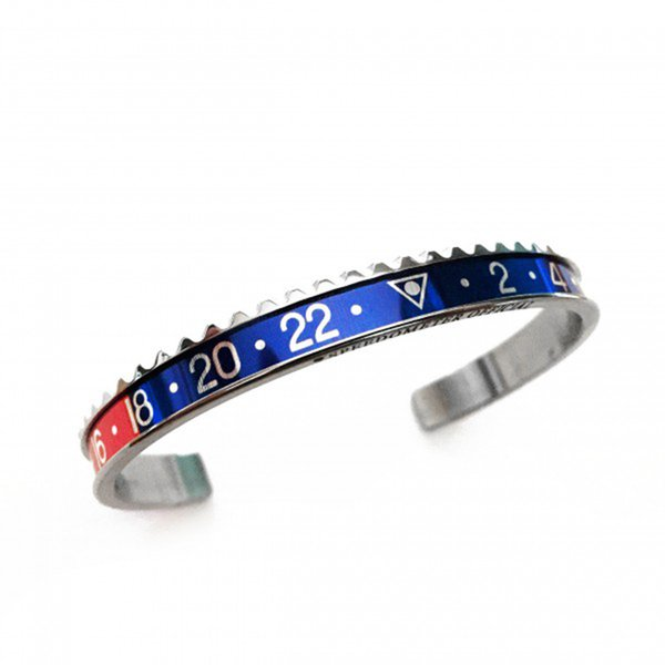 Stahl-rot-blau