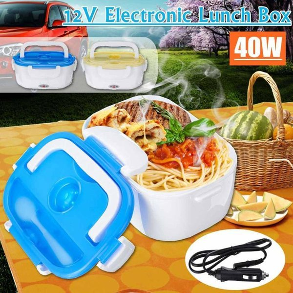 best selling Portable Lunch Box Container Electric Heating Warmer Heater Rice Container Dinnerware Sets 12 V 40W1