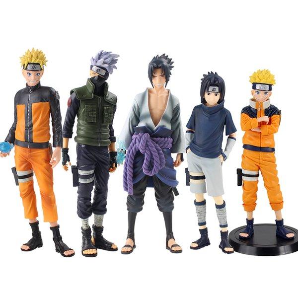 best selling 25-28cm Naruto Grandista Shinobi Relations Uzumaki Uchiha Sasuke Hatake Kakashi Figurine PVC Model Hot Figure Toys X0121